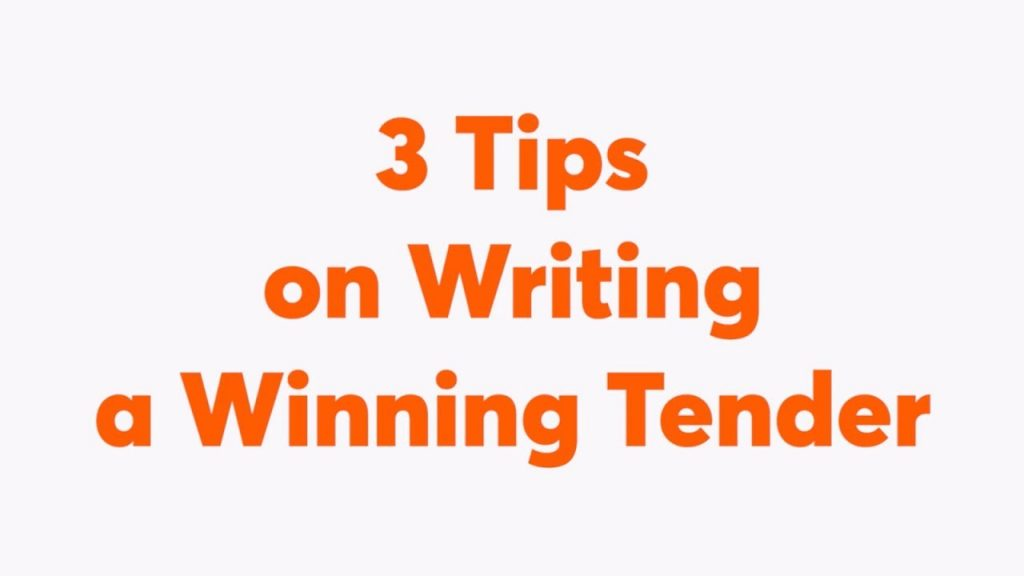 3 Best Tірѕ In Writing A Winning Tender