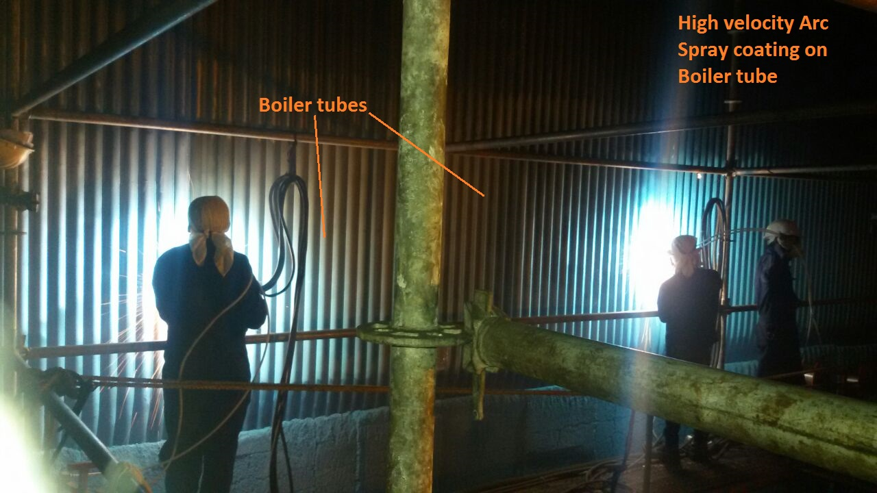 High_Velocity_Arc_Spray_Coating_on_boiler_tube