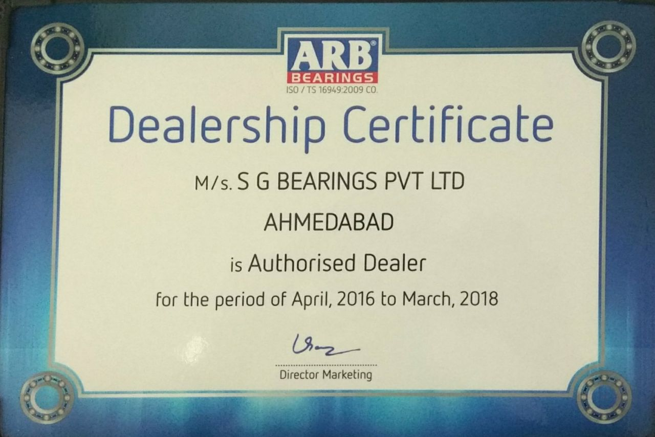ARB Dealership Certificate